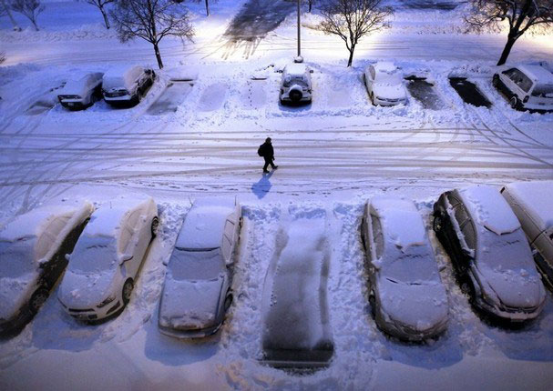 Dockside Winter Storm Parking Lot