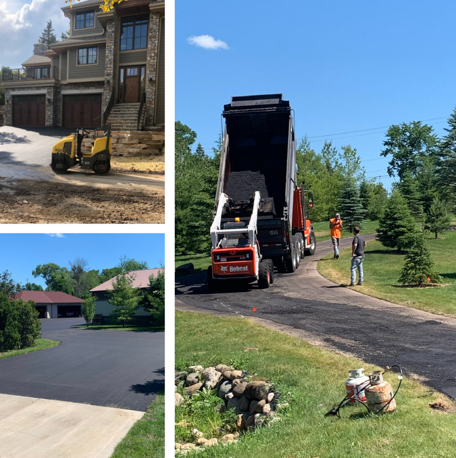 Residential Paving Collage